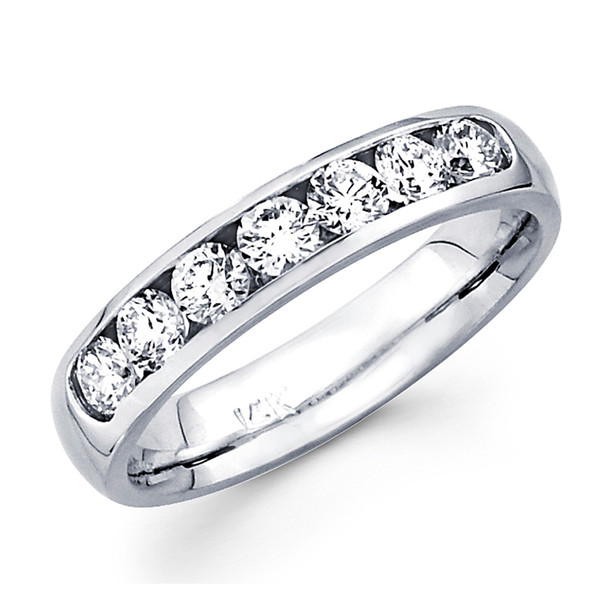 White gold wedding band with diamonds - BD5-6