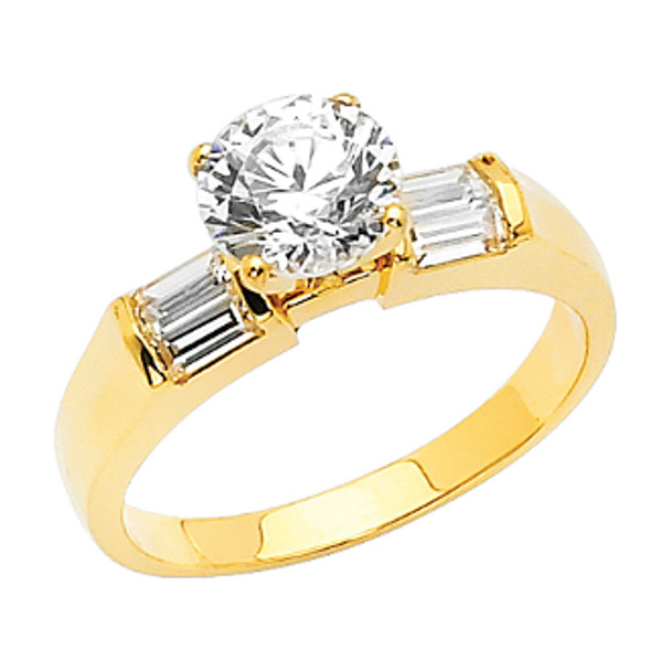 Yellow Gold Engagement Ring - 14 K.  3.4 gr - RG8