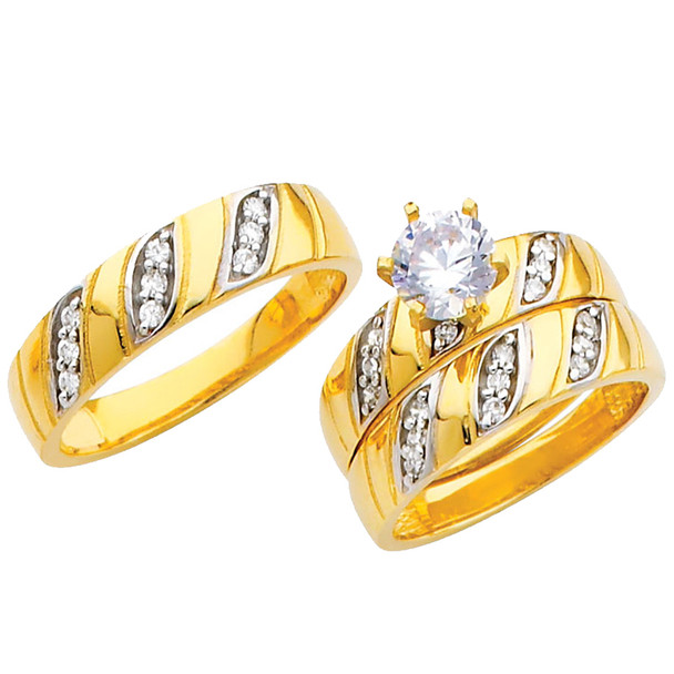 Yellow / White Gold Trio Set - TC207
