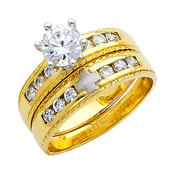 Engagement Ring / Wedding Band 14K  5.2 gr. - RG158