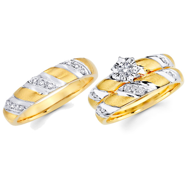 Yellow / White Gold Trio Set - TDR03