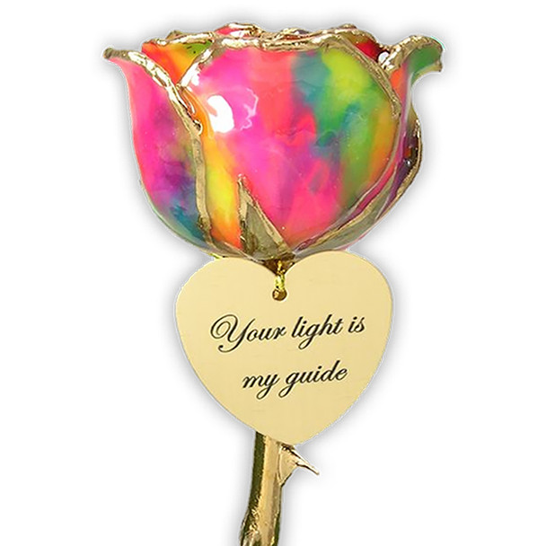 Personalized 24k Gold Rose Gift 11in - 11MLR