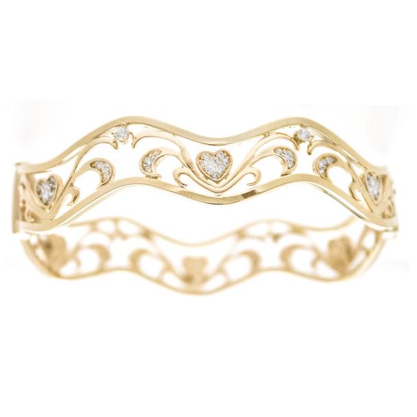 Yellow Gold Bracelet with CZ gr - BLG-704