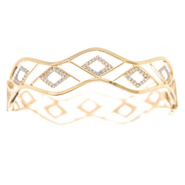 Yellow Gold Bracelet with CZ gr - BLG-706