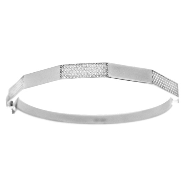 White Gold Bracelet with CZ gr - BLG-708