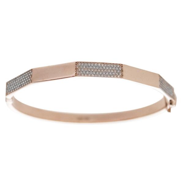 Red Gold Bracelet with CZ gr - BLG-709