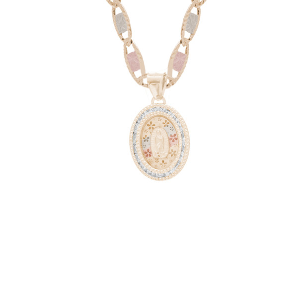 Yellow / White / Red Gold Pendant with CZ- 14K - MRD521