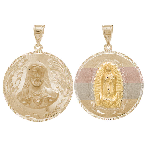 Yellow / White / Red Gold Medal - 2 Sides - 14 K - RP216