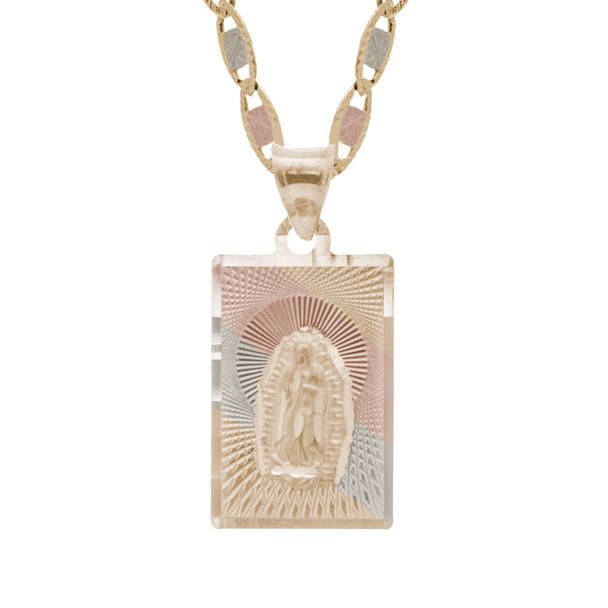 Yellow / White / Red Gold Virgin Mary Medal - 14 K - RP223