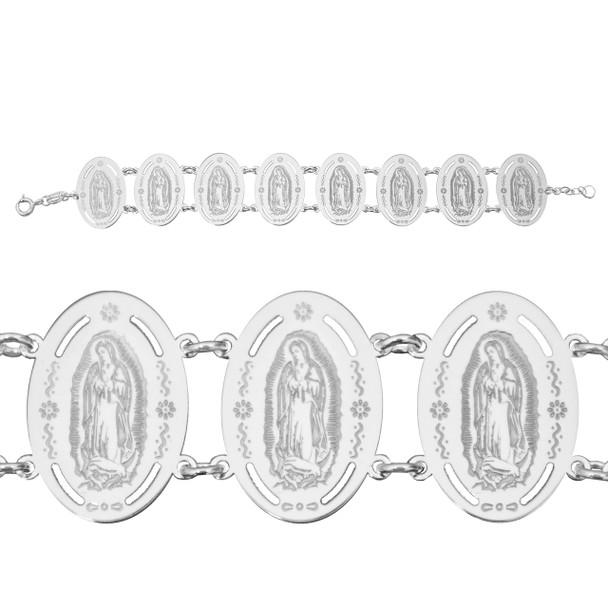 Virgin Mary Silver Bracelet - CZ - 0.925 - VMB925