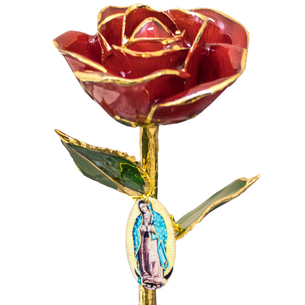 Virgin Mary 24k Gold Rose  - 11in - RSEVM1