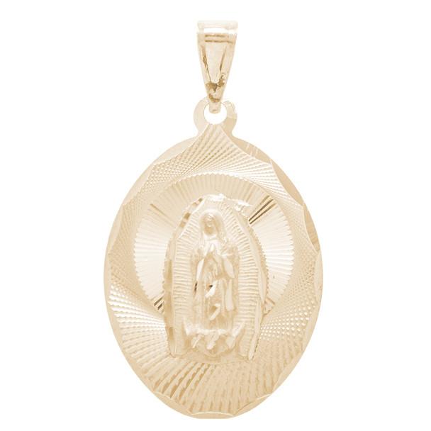 Virgin Mary Yellow Gold Medal - 14 K - RP266  Jesus Christ / Virgin Mary  14 K.   1.6 gr.