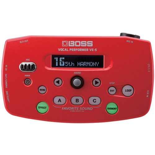 Boss VE-5 Vocal Performer (Red)