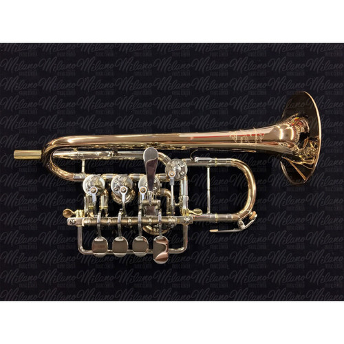 Scherzer 8111-1-0 (Lacquer) B-flat/A Rotary Piccolo Trumpet