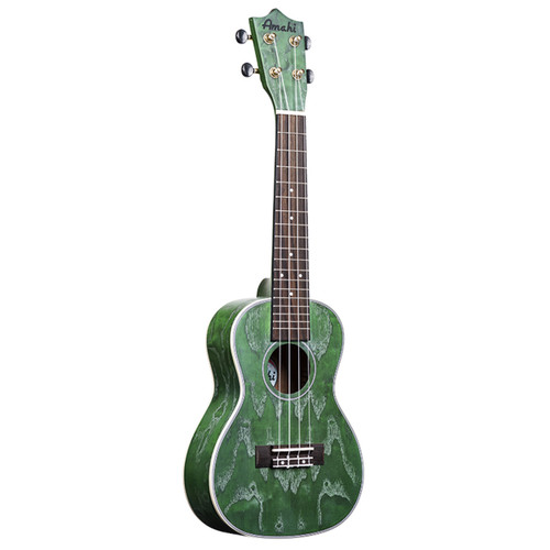 Amahi Green Quilted Ash C-24 (Concert)