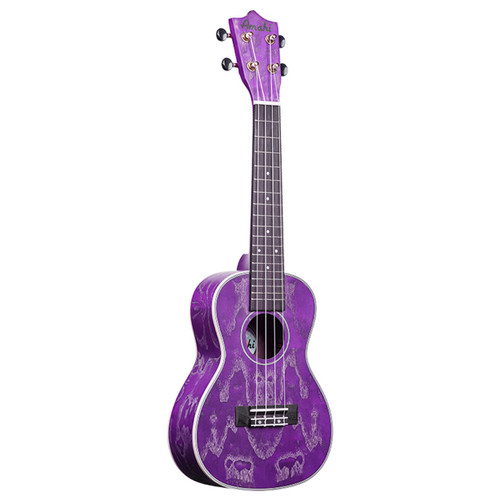 Amahi Purple Quilted Ash C-27 (Concert)