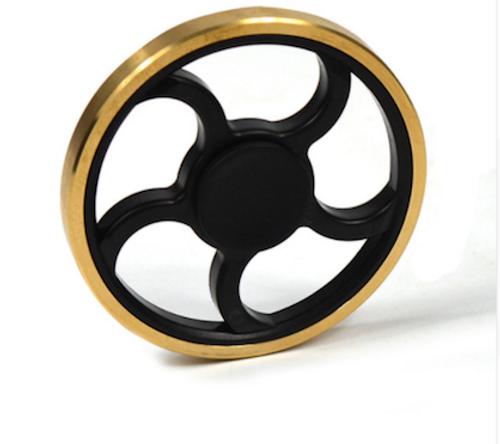 Fidget Spinner Black And Gold