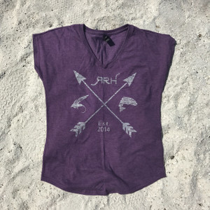 RRH Arrow Tee-Heathered Purple