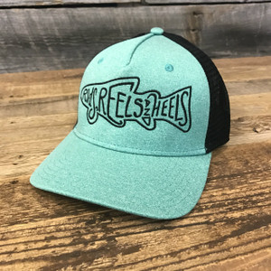 The Bighorn Trucker- Heathered Seafoam