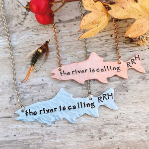 The River is Calling Trout Pendent