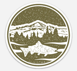 !NEW! Mountain Trout Sticker