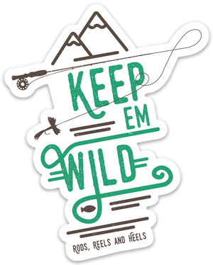 New!! Keep 'em Wild Rod Sticker