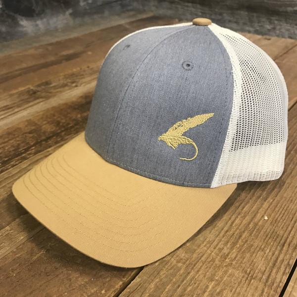 "*BACK IN STOCK* ""Fly""  Golden Rod Trucker hat"