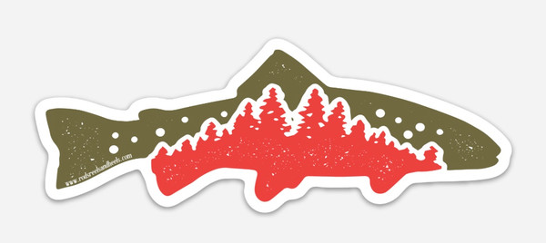 !NEW! Tree Trout Sticker