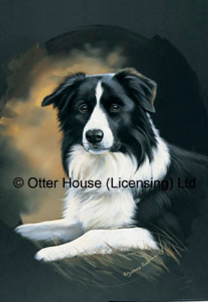 Pollyanna Pickering Border Collie Garden Flag