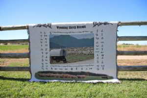 Wyoming Sheep Brand Afghan