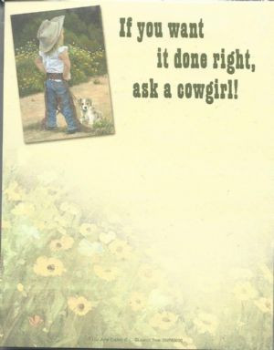 Cowgirl Note Pad