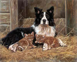 Babysitting, Limited Edition Print by John Trickett