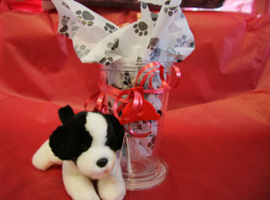 Valentine To Go Cup Gift Set with Border Collie