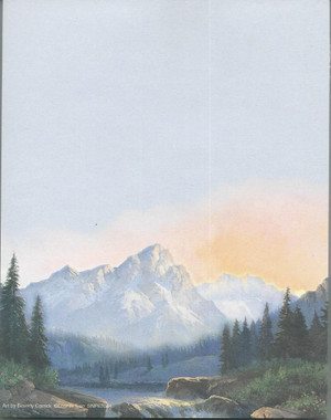 Mountain Scene Notepad