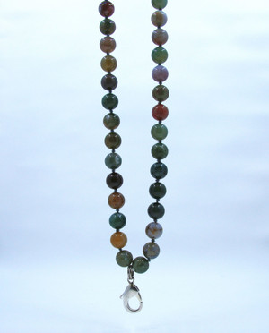 Multi-colored Fancy apple Jasper Beaded Lanyard