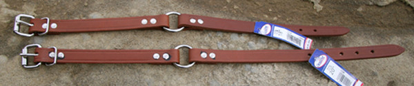 "Leather Dog Collar with Center Ring 3/4"" Wide"