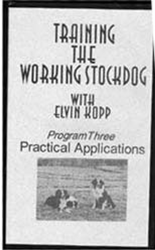 Training the Working Stockdog Tape 3 DVD