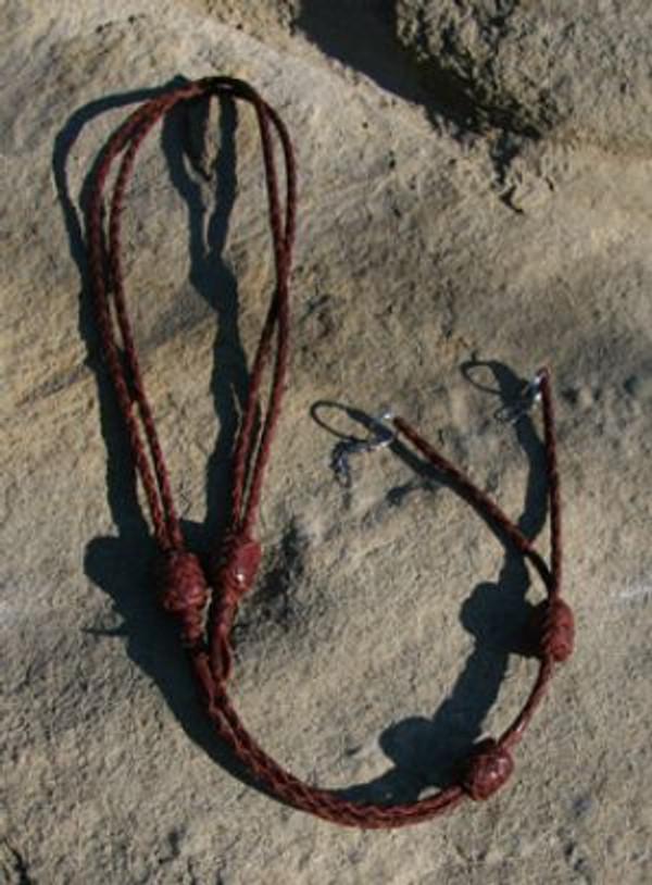 Double Kangaroo Leather Lanyard