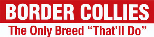 """""""Border Collies...The Only Breed That'll Do"""" Magnet"""