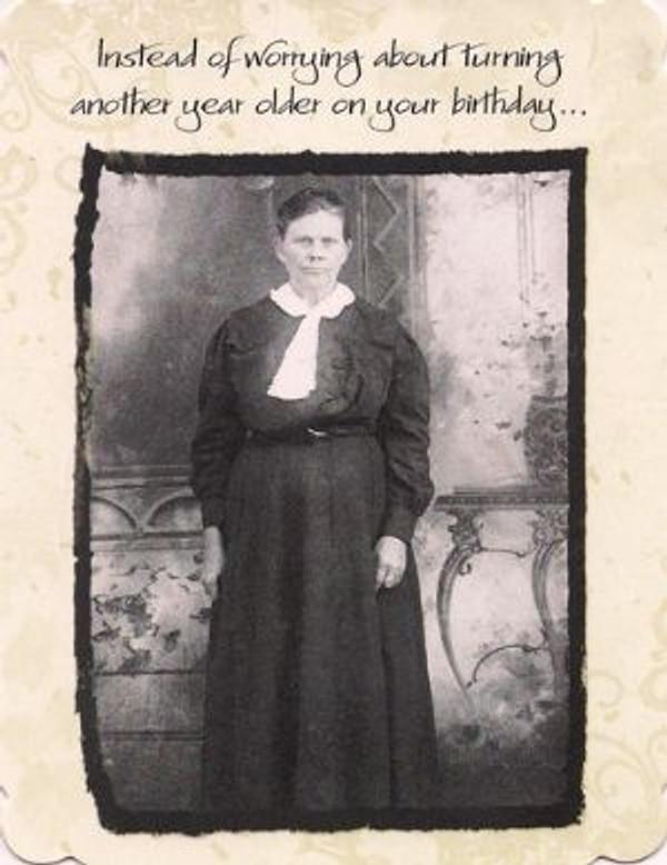 Crap! She's Awake - Birthday Greeting Card