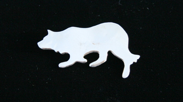 Sterling Overlay Border Collie Pin/Brooch