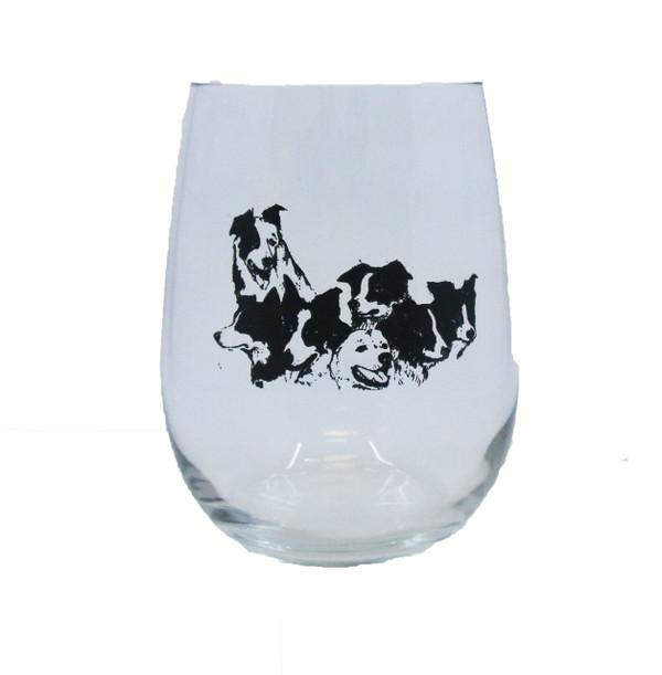 Single Border Collie Glass