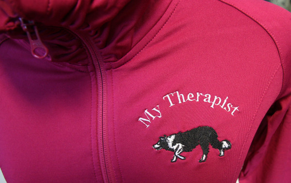 My Therapist - Border Collie Jacket - Pink Rush