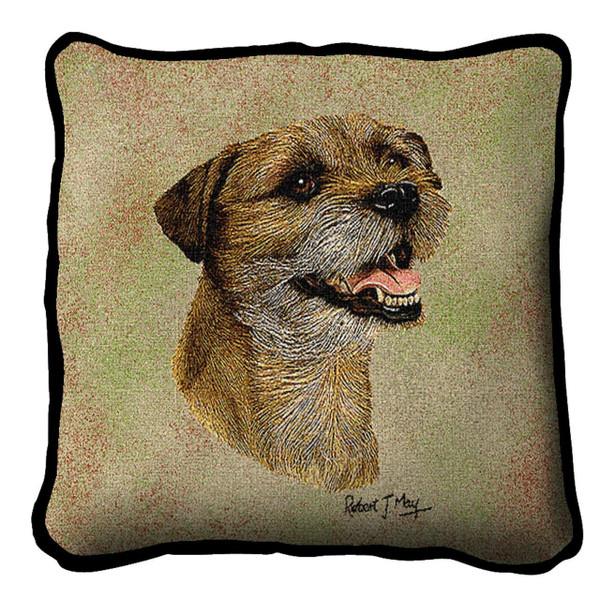 Border Terrier II Pillow