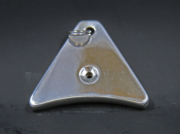 'A' shaped Sterling Silver Whistle