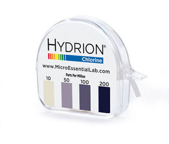 Hydrion (CM-240) Chlorine Testing Strips Roll with Dispenser 10-200 PPM Kit