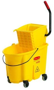 RUBBERMAID - 7580-88 - WaveBrake® Side Press Combo, Bucket + Wringer Set