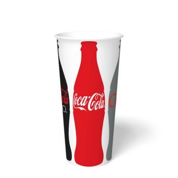International Paper - DMT-24 - 24 oz Coca Cola Print II, 24 oz Cold Paper Cups - 1000/cs