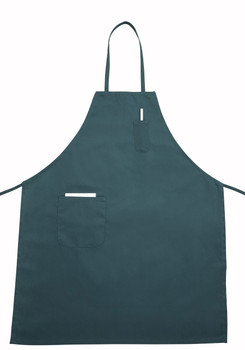 Winco - BA-PGN - Green Full Size Aprons (Cotton/Poly Blend) - 1/Each