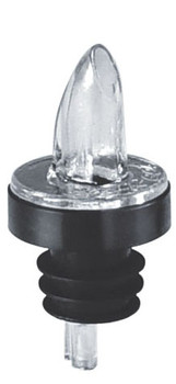 JR - 7786 - Plastic Clear Continuous Flow Pourer W/Collar